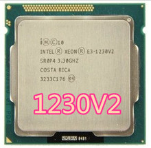 Intel Xeon e3 1230 V2 E3 1230 V2 SR0P4 8M Quad Core LGA 1155 CPU de 3.3GHz E3 1230 V2 Processor frete grátis