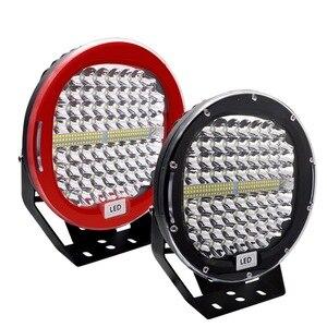 Image 1 - Safego faro LED de 9 pulgadas y 408W para coche, foco de trabajo, antiniebla de conducción, funda negra roja para camión Tractor ATV UAZ SUV 4WD 4x4