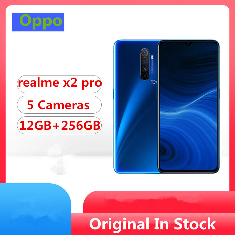 """DHL Fast Delivery Realme X2 Pro Cell Phone Snapdragon 855 Plus Android 9.0 6.5"""" 90HZ 12GB RAM 256GB ROM 64.0MP 50W VOOC