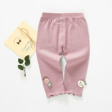 все цены на 2019 New Baby Girl Leggings Spring Autumn cotton Stretch Pants children clothes Boys girls knitted leggings kids Trousers