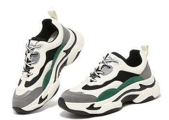 MOOLECOLE Spring/autumn Women Casual Shoes Platform Sneakers for Women Lace-up PU Women Shoes 2-28
