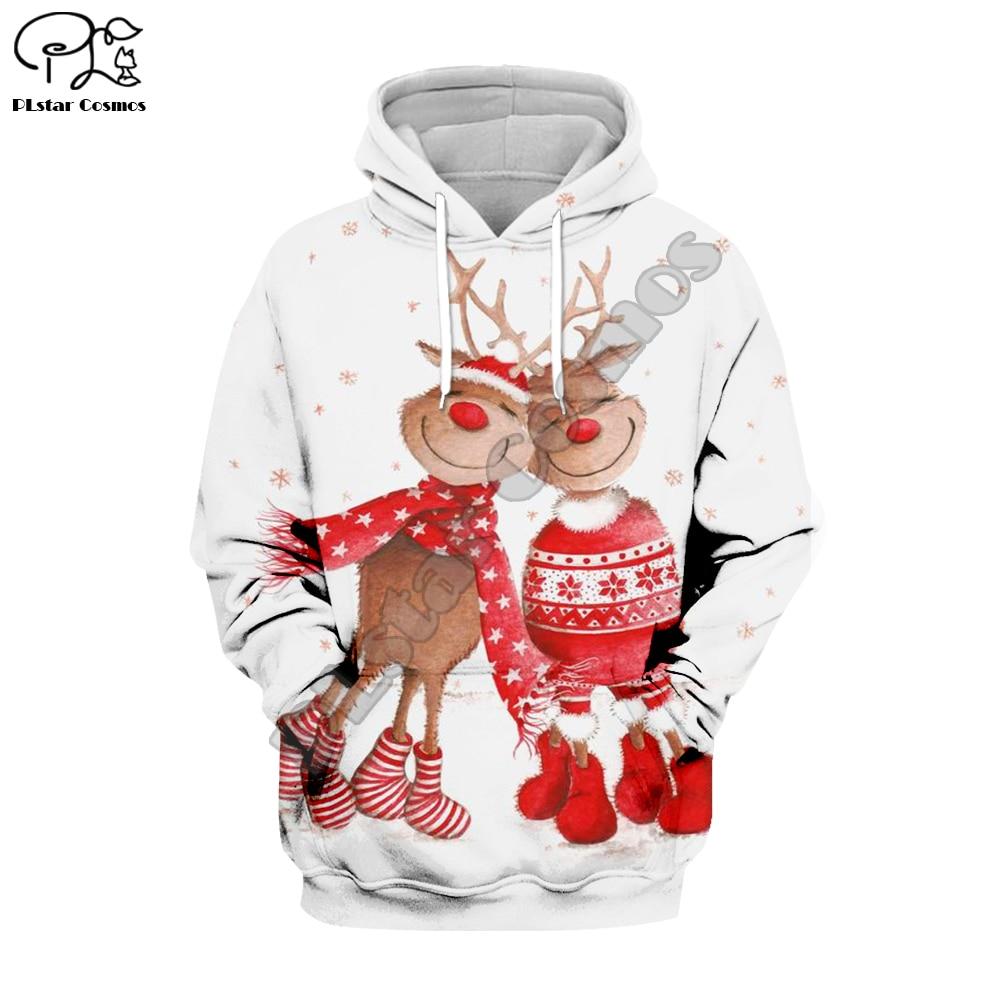 PLstar Cosmos Merry Christmas Santa Claus Casual 3D Printed Hoodie/Sweatshirt/Jacket/Mens Womens Colorful Funny Style-2