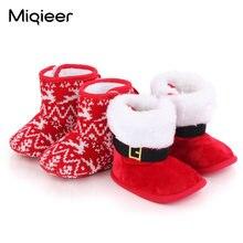 Зимние рождественские детские плюшевые теплые ботинки милые