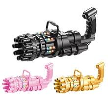 Music Light Version Of Gatling Electric Bubble Gun Automatic Bubble Blowing Machine Children Bubble Toy Gun Kid Toy
