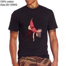 Funny pin up girl waifu Men brand tshirts senpai bunny sex material cotton t-shirt male Zero Two Waifu Ahegao Vaporwave t shirts