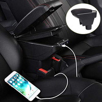 Car Styling Decoration Accessories For Renault Duster Armrest Box Central Store Content Box Cup Holder Ashtray Interior