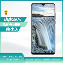 "Elephone A6 Max 4G Smartphone 6.53"" Drop Notch Screen Android 9.0 4GB 64GB MT6762V Quad Core 20MP Camera OTG NFC Mobile Phone"