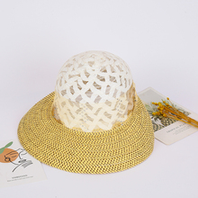 women summer beach hat straw sunhat foldable breathable sports hat farmers workers hat Russia ladies mother hat