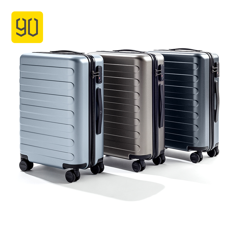 90FUN PC Suitcase Rolling Travel Luggage Carry-on Spinner Wheels TSA Lock Business Vacation for School Airplane Unisex