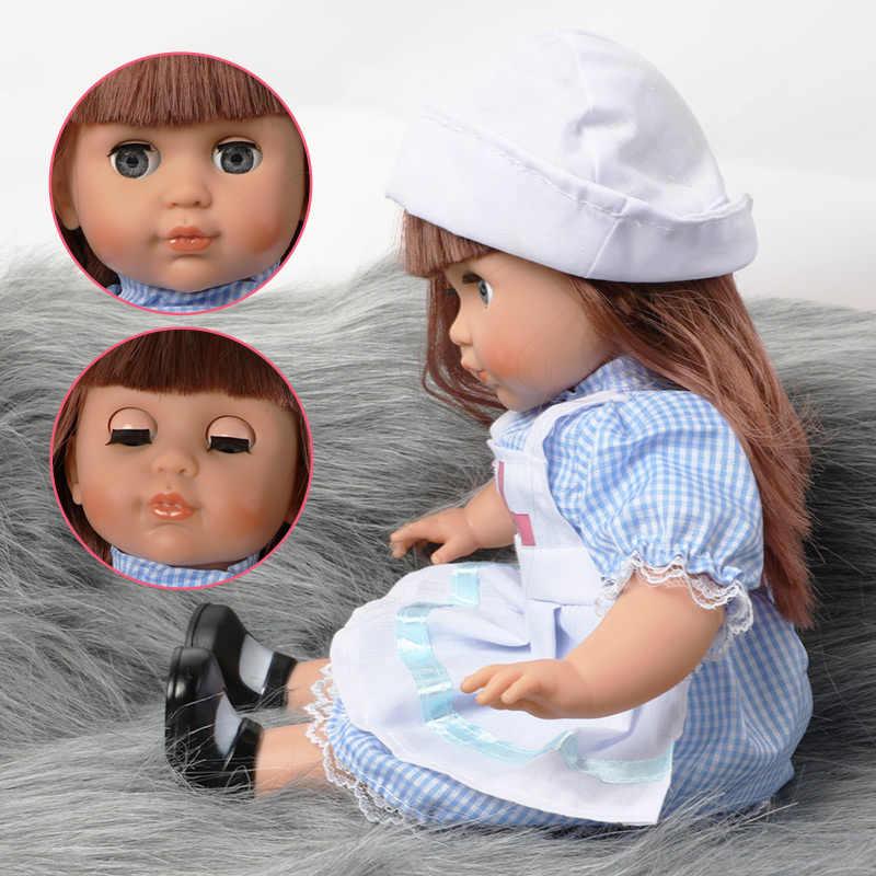 14 นิ้ว Bebe Reborn ตุ๊กตาเสียงของเล่นเด็ก 36 ซม.การจำลองนุ่มซิลิโคนแฟชั่นชุดตุ๊กตาเด็กของขวัญของเล่นสาว