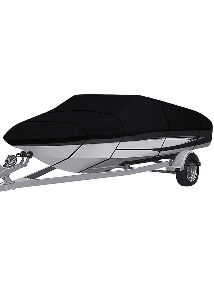 600x230cm 210D Oxford tissu V Type Yacht couverture noir imperméable à l'eau pluie poussière UV Protection extérieure bateau couverture