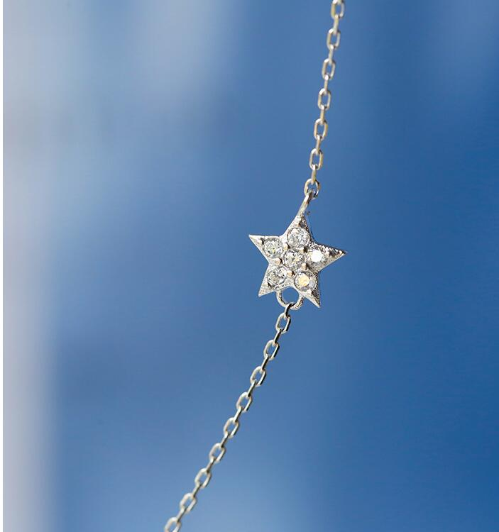 925 sterling silver Star Moon Charm Pendants Neckalce Choker Statement Collar Necklace For Women Wedding Jewelry dz819