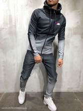 2020 Zipper Tracksuit Men Set m power Sporting for bmw Jacket+Pants 2 Pieces Hoodies Sweatshirt &Pant racing Suit(China)