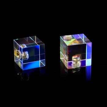 25*25*25mm/0,98*0,98 * 0.98in cúbico ciencia cubo óptico Prisma fotografía con Prisma Hexahedral decoración del hogar Prisma vidrio