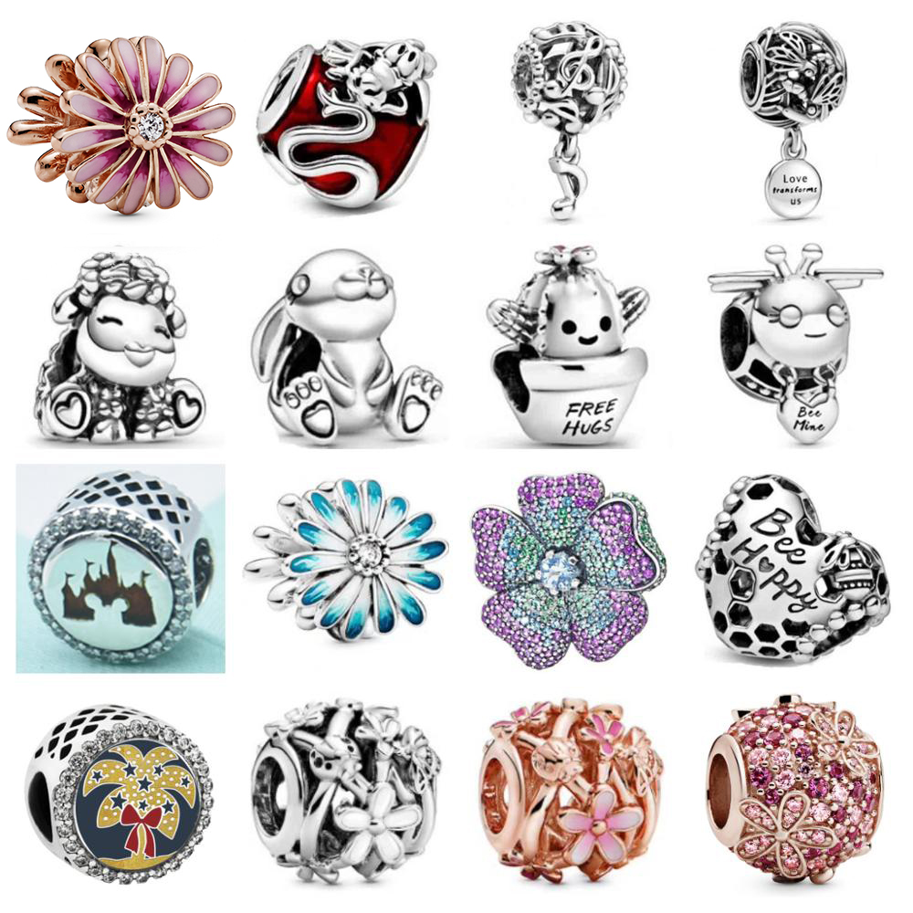 PBD 77 Original 925 Sterling Silver 2020 Spring New Charm Beads Suitable For DIY Bracelet Women Jewelry Gift Free Shipping
