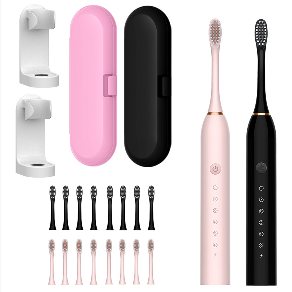 USB Rechargeable Sonic Electric Toothbrush 42000 Time/Min Ultrasonic Electronic Whitening Teeth Brush 6 Mode with Travel Box