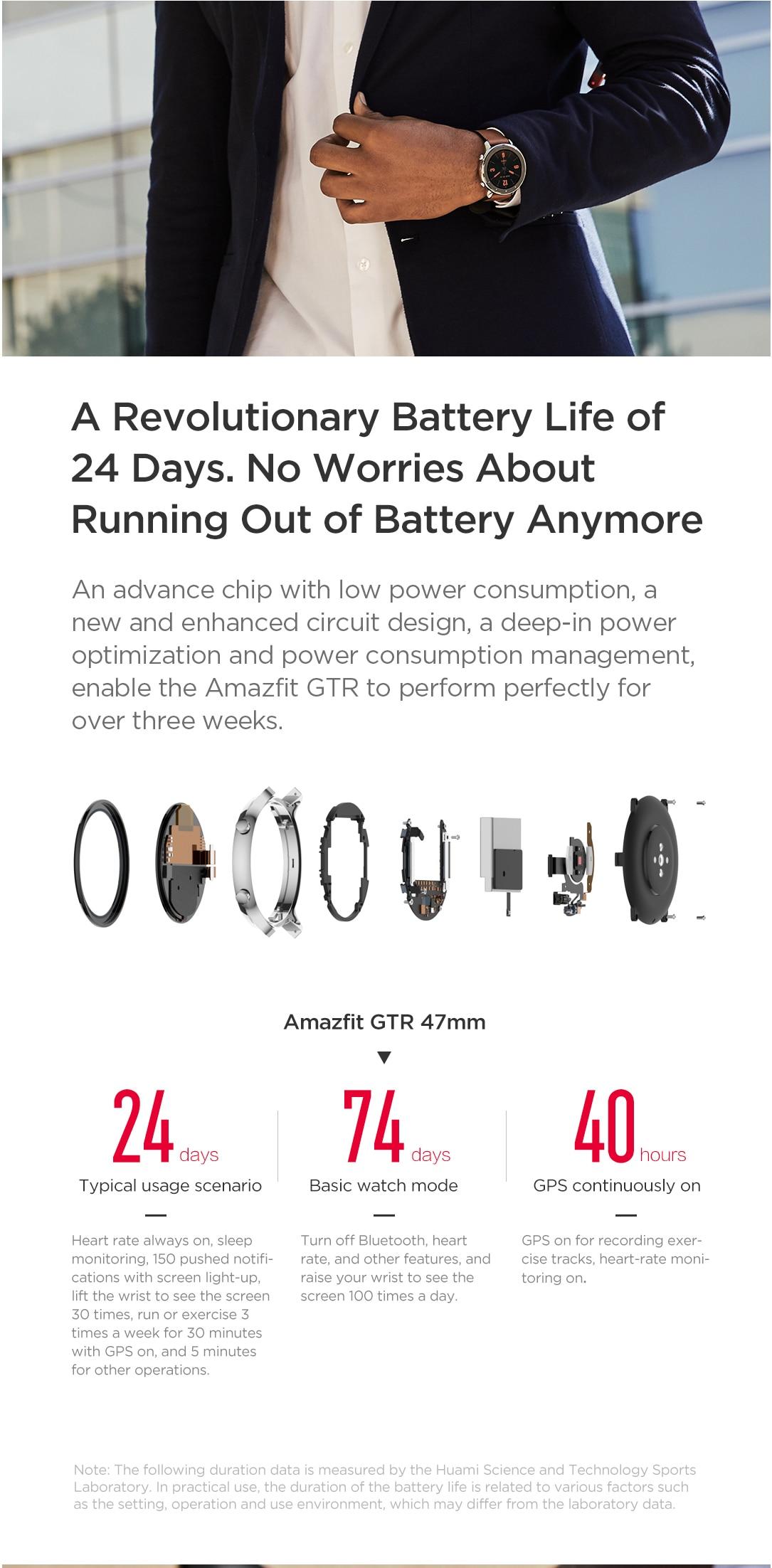 Amazfit GTR 47mm Smart Watch