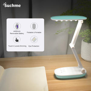 Suchme Power Bank Desk Lamp Rechargeable Table Lamp 2400mAh Portable Lanterns Camping Lamp For Reading Table