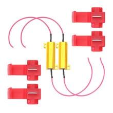 50W 6 ohm Resistenza di Carico LED Fix Hyper Flash Veloce del Segnale di Girata Blink LED Errore di Resistenza del Cablaggio Auto accessori