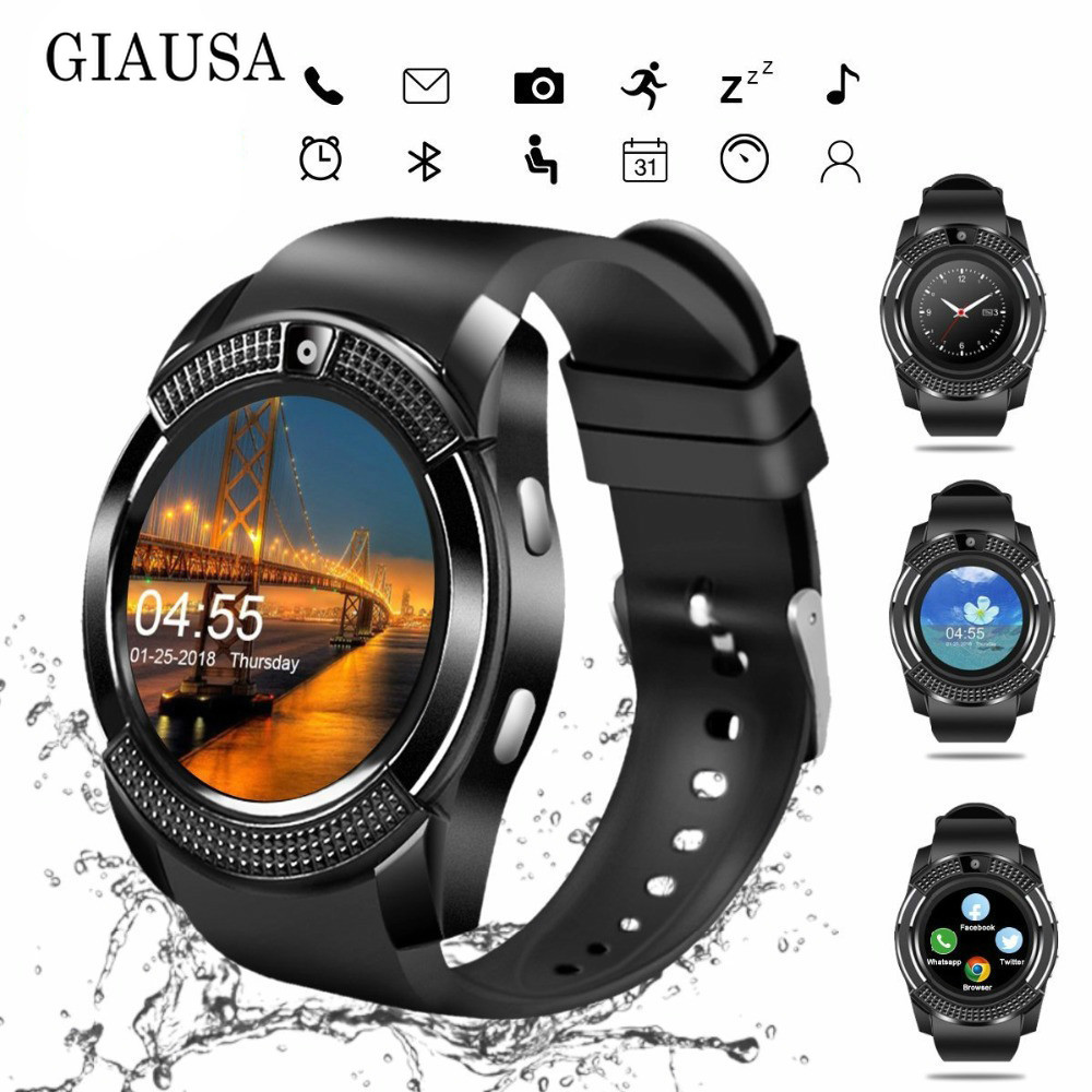 <font><b>2019</b></font> <font><b>New</b></font> Bluetooth <font><b>Smart</b></font> <font><b>Watch</b></font> Touch Screen Wrist <font><b>Watch</b></font> with Camera/SIM Card Slot, Waterproof <font><b>Smart</b></font> <font><b>Watch</b></font> M2 A1 VS DZ09 X6 image