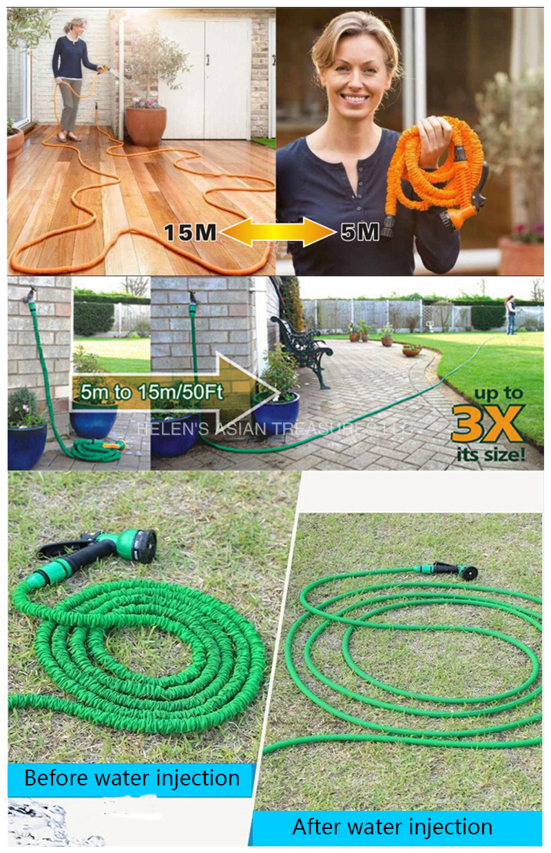 H61ee5734e0d54b56bfffa7585ce2e37cO Free shipping 25Ft-200Ft Garden Hose Expandable Magic Flexible Water Hose Eu Hose Plastic Hoses Pipe With Spray Gun To Watering