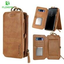 FLOVEME Retro skórzany portfel etui do Samsung S20 S20 Plus uwaga 20 Ultra S10 S9 S8 S10E uwaga 8 9 10 Plus pokrywa gniazda kart etui