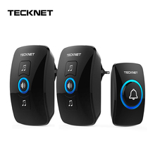 TeckNet Wireless Doorbell Remote IP33 Waterproof Cordless Door Bell Chime Kit with LED Light Operating 250M Range with 32 Chimes bell with 4 emitters 1 receivers waterproof 280m long range wireless doorbell wireless door chime wireless bell 48 melodies bell