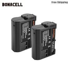 Bateria para câmera nikon dslr d600, bateria para câmera bonacell 2800mah EN EL15 enel15 en el15, bateria para nikon d600 d610 d800 d800e ltd d7000 d7100 d7200 l50