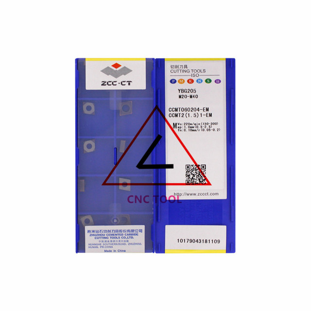 CCMT060204 EM YBG205 10 stücke Original CHINA ZCCCT Drehen Einsätze