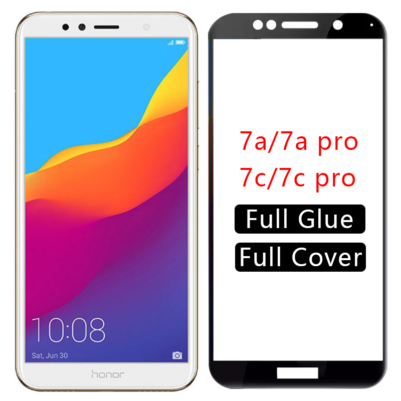 protective glass honor 7a pro tempered glas screen protector for huawei honor7a honor7c 7c 7 a c 7apro 7cpro a7 c7 safety huawey(China)