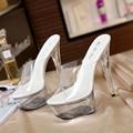 STAN SHARK/женские босоножки; Женская модельная обувь с Т-образным ремешком; Пикантная прозрачная обувь с кристаллами; Водонепроницаемые босоно...