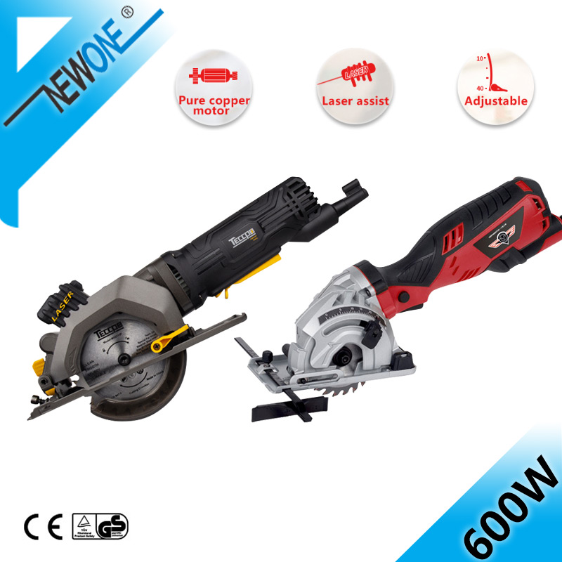 NEWONE Electric Mini Circular Saw With Laser For Cut Wood,PVC Tube,15pcs Discs, 230V Multifunctional Electric Saw DIY Power Tool