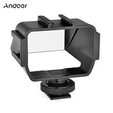 Andoer Universal Kamera Selfie Vlog Flip Up Spiegel Bildschirm mit 3 Kalten Schuh Halterungen für Sony Nikon Z6/Z7 mirroless Kameras