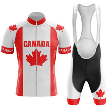Canadian cycling suit red bicycle uniform summer cycling suit suit road bike cycling suit mountain bike breathable cycling suit 2020 style cycling road bike frame blue camouflage bike frameset v brakes seatpost frok headset made in china free shipping