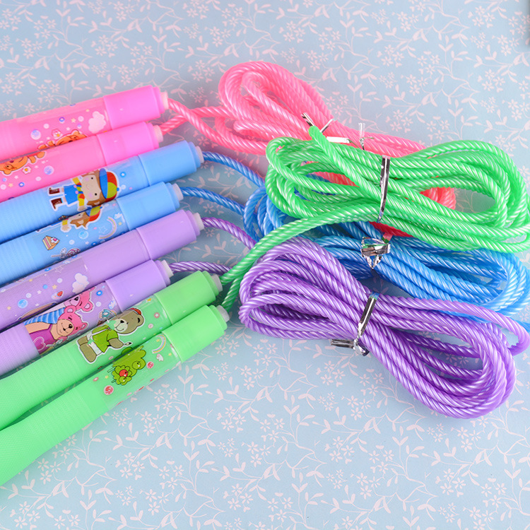 Game Jump Rope Adjustable Young STUDENT'S Children Sports Fitness Single Person Toy Cartoon Practical Gift