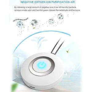 Image 4 - USB taşınabilir giyilebilir hava temizleyici, kişisel Mini hava kolye negatif iyon hava spreyi radyasyon düşük gürültü yetişkinler için