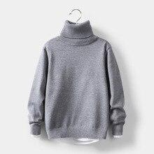 VIDMID/зимние свитера с высоким воротником для маленьких девочек и мальчиков; одежда для детей на осень; пуловер; вязаные однотонные детские свитера; 7088 07