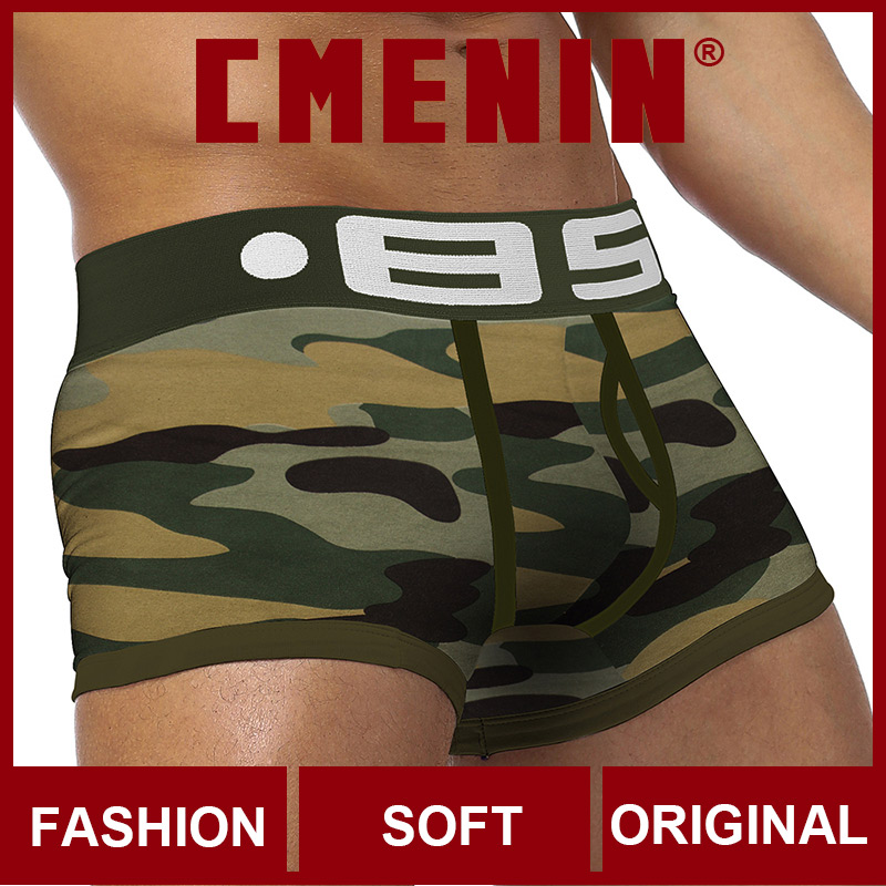 Fashion 2020 New Underwear Men Boxers Bamboo Mens Boxershorts Underware Boxer Shorts Innerwear Penis Quick Dry