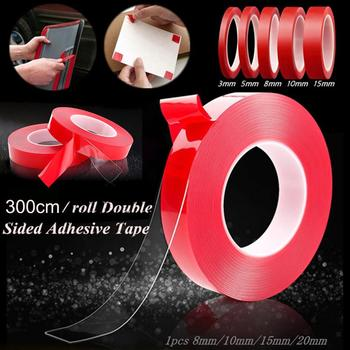Red Transparent Silicone Double Sided Tape Sticker For Car Stickers High Strength No Traces Adhesive Sticker Auto Living Goods image