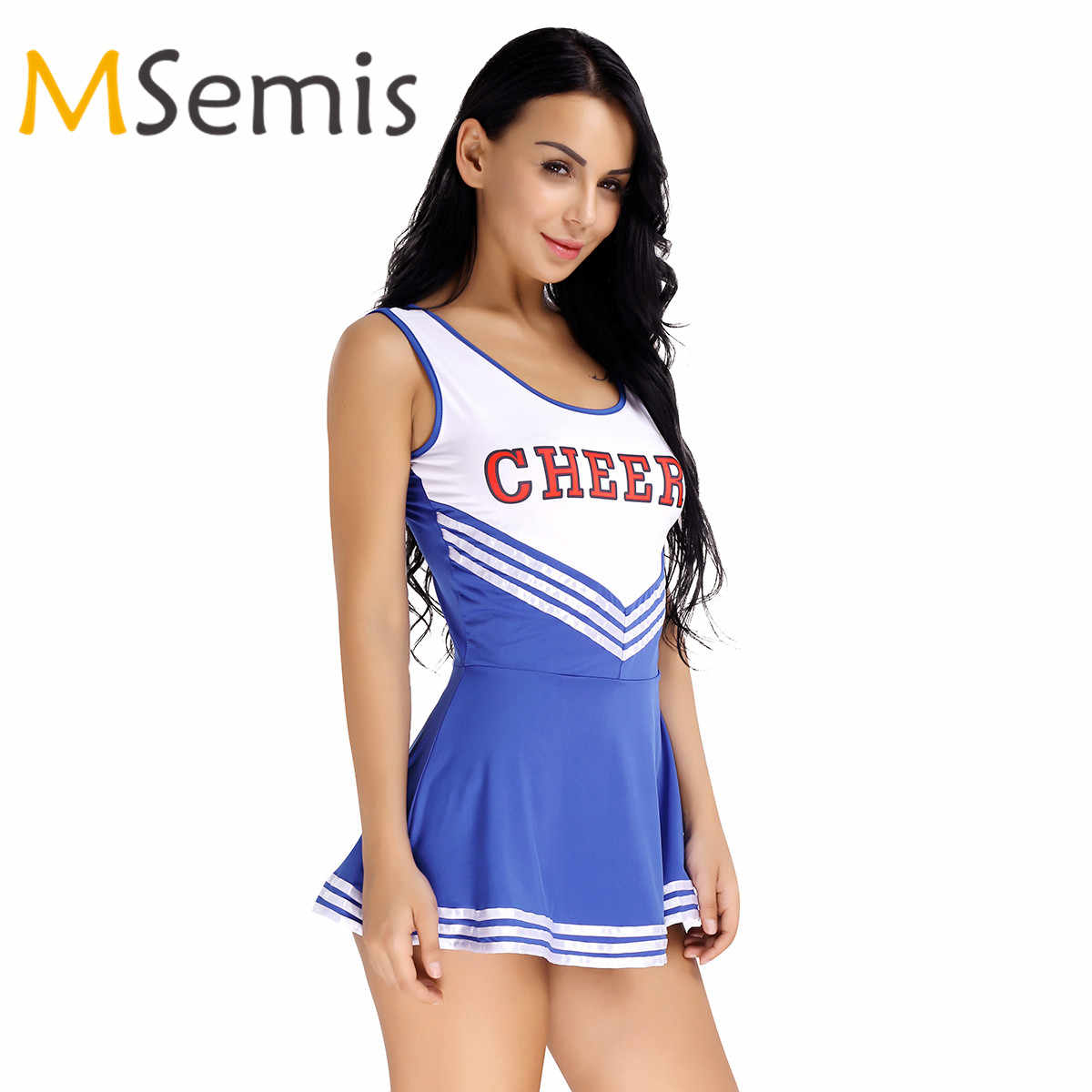 Frauen Cheerleader Kostüm Uniform Schule Mädchen Musical Phantasie Cheerleading Kleid Team Sport Cheerleading Sport Uniform Kleid