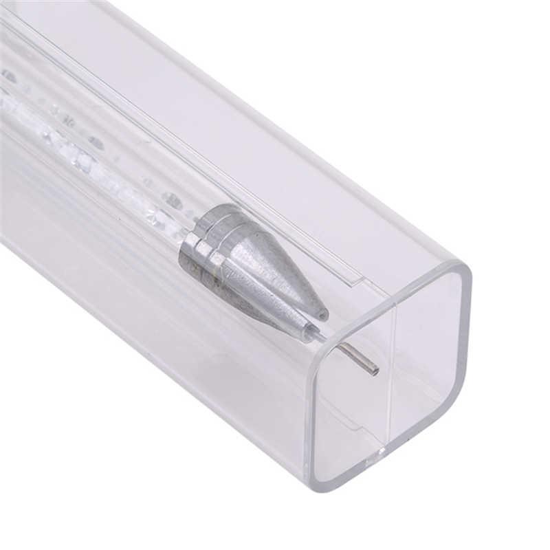 Двусторонняя восковая ручка для дизайна ногтей, распиловка, подберите стразы, хрустальные бусины, кисточка для камней, инструмент для маникюра, самоклеющиеся наконечники, акриловый гель