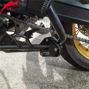 Image 3 - SUZUKI için V STROM 650/XT VSTROM 650 DL650 2004 2020 motosiklet CNC Kickstand ayak yan ayak uzatma Pad destek plakası