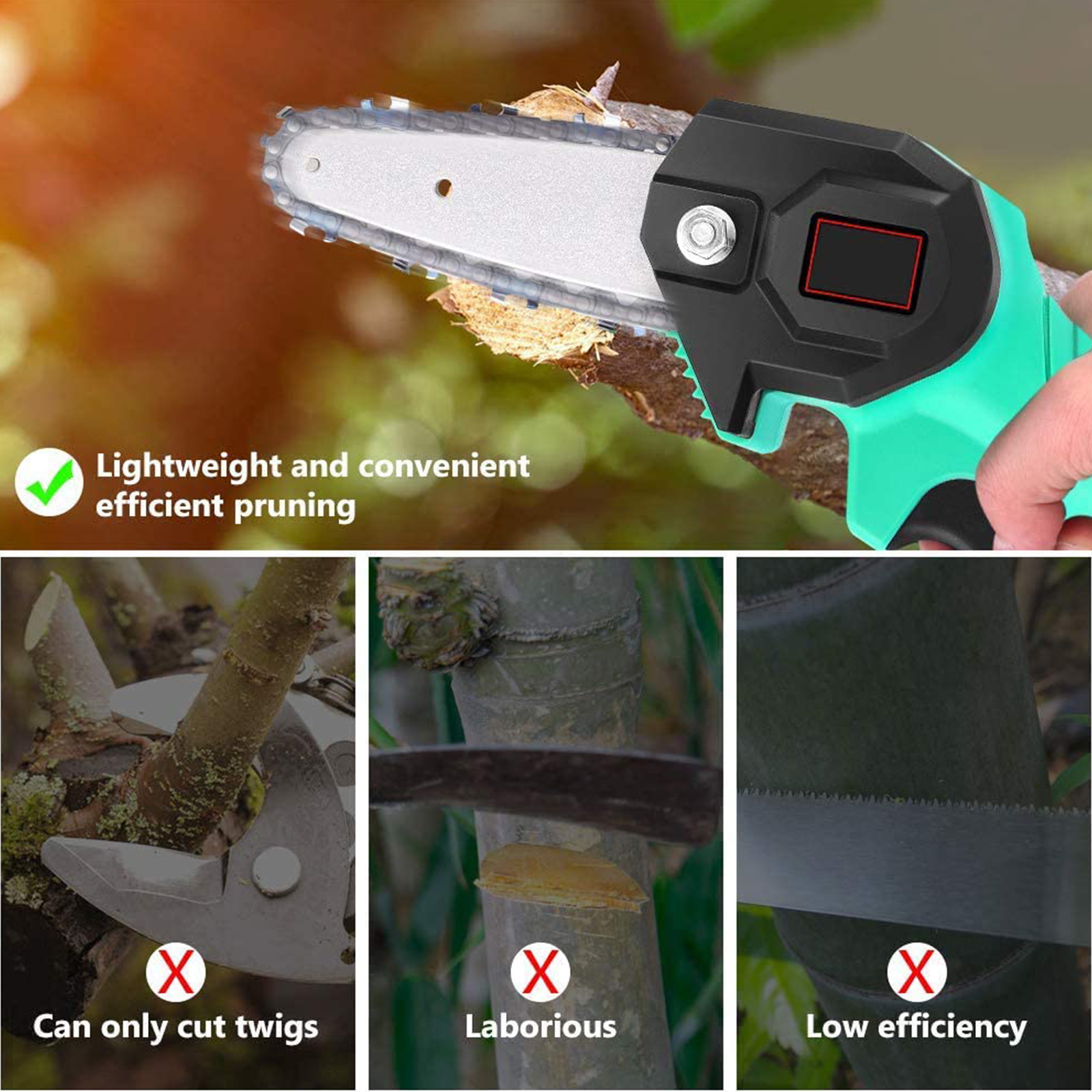 Handed Chain Battery Saw Chainsaw Rechargeable One Cutting 1080W Mini Tool Electric Wood Garden Woodworking 88V With Pruning