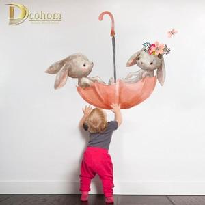 Cute Pink Animal Rabbit Wall S