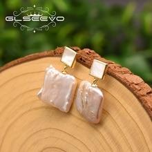GLSEEVO 925 Sterling Silver Fresh Water Pearl Drop Earrings