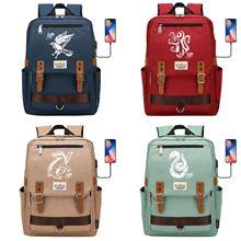 Cosplay Backpack Usb-Schoolbag Potter Bookbag Ravenclaw Students Magic with Satchel Hog