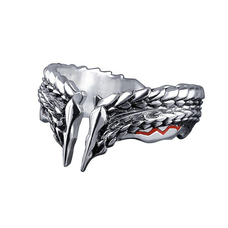 Monstre chasseur monde MHW tonnerre loup anneau Zinogre jeu bijoux S925 bague en argent StygianZinogre pour hommes anneaux