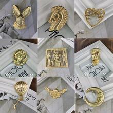Горячая Распродажа; Винтажные женские металлические броши для