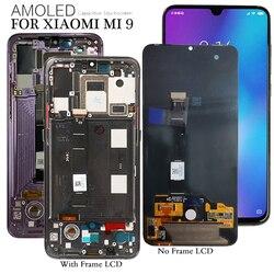 Wyświetlacz AMOLED do wyświetlacza LCD Xiaomi Mi 9 Mi9 10 wymiana ekranu dotykowego testowane telefony komórkowe ekran obsługujący odcisk palca