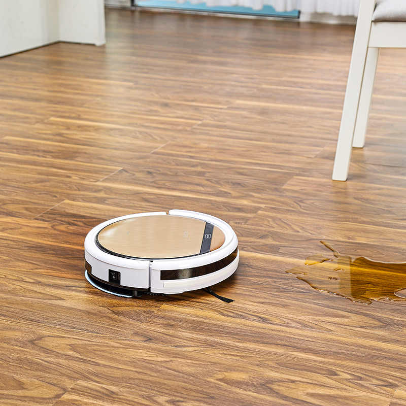ILIFE V5sPro 로봇 진공 청소기 진공 습식 모핑 애완 동물 모발 및 하드 플로어 자동 강력한 흡입 초박형 소독